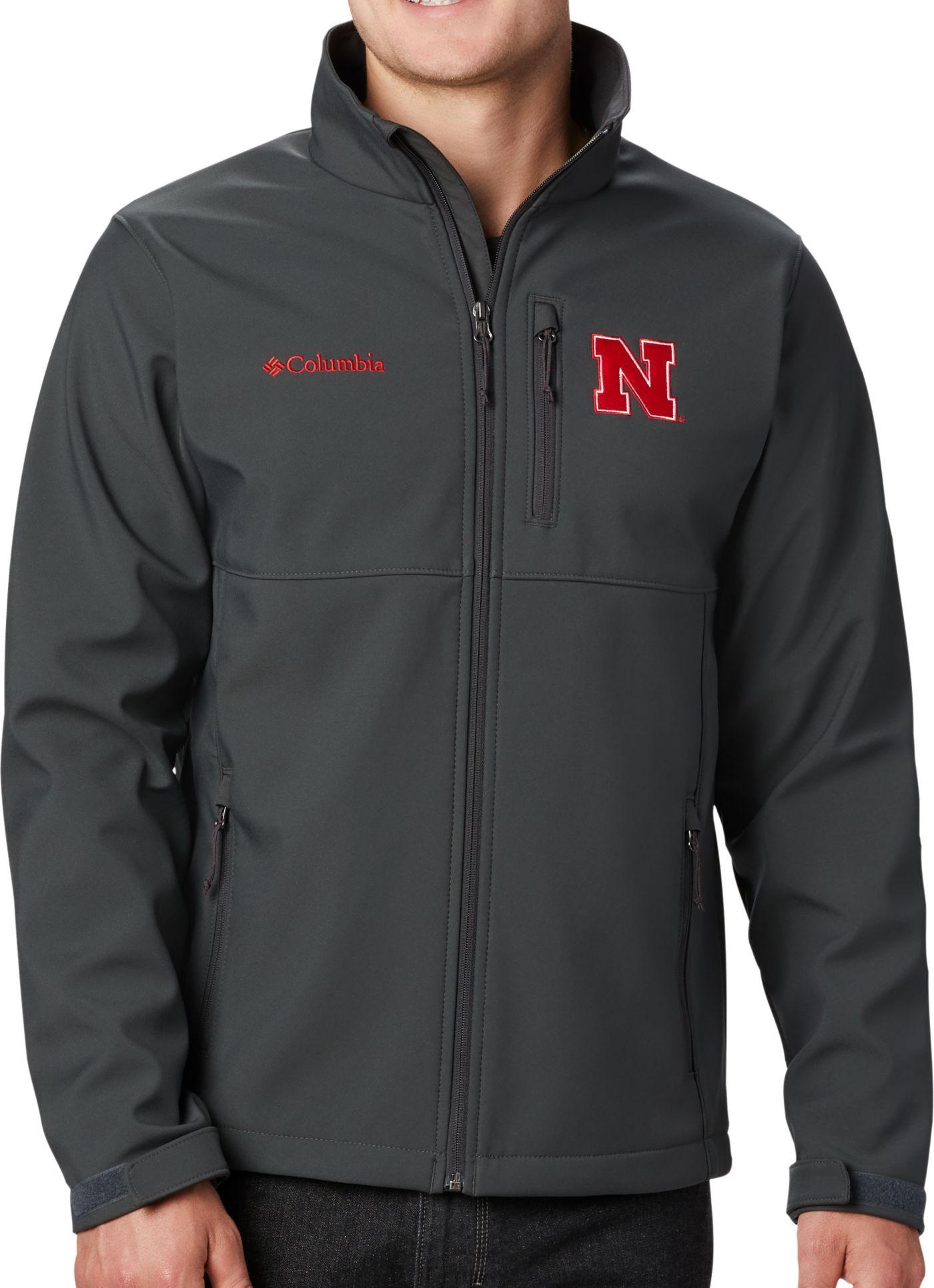 Columbia Men's Nebraska Cornhuskers Grey Ascender Jacket
