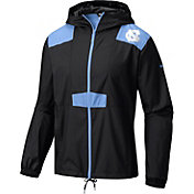 Columbia Men's North Carolina Tar Heels Flashback Black Windbreaker
