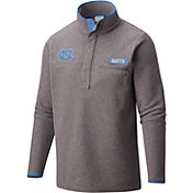 Columbia Men's North Carolina Tar Heels Grey Harborside Fleece Pullover