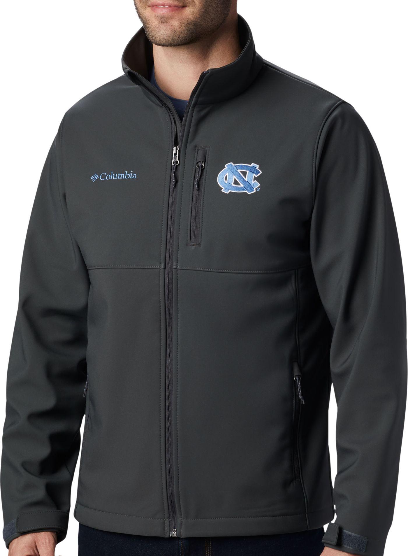 Columbia Men's North Carolina Tar Heels Grey Ascender Jacket