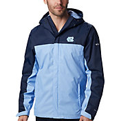 Columbia Men's North Carolina Tar Heels Navy/Carolina Blue Glennaker Storm Jacket