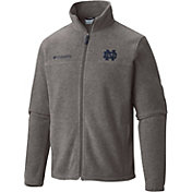 Columbia Men's Notre Dame Fighting Irish Grey Flanker Full-Zip Fleece