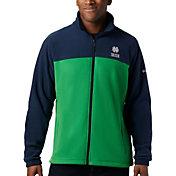Columbia Men's Notre Dame Fighting Irish Navy Flanker Full-Zip Fleece Jacket