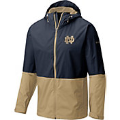 Columbia Men's Notre Dame Fighting Irish Navy/Gold Roan Mountain Jacket