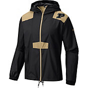 Columbia Men's Purdue Boilermakers Flashback Black Windbreaker