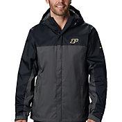 Columbia Men's Purdue Boilermakers Black/Grey Glennaker Storm Jacket