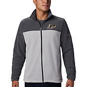 Columbia Men's Purdue Boilermakers Grey Flanker Full-Zip Fleece Jacket
