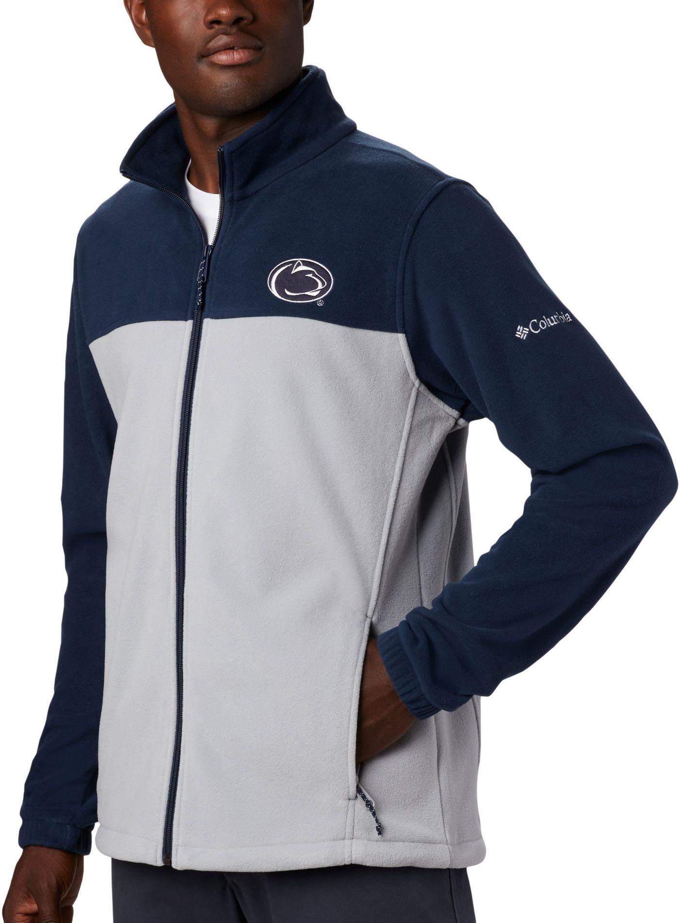 Columbia Men's Penn State Nittany Lions Blue Flanker Full-Zip Fleece Jacket