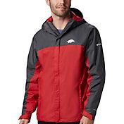 Columbia Men's Arkansas Razorbacks Grey/Cardinal Glennaker Storm Jacket