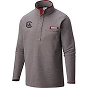 Columbia Men's South Carolina Gamecocks Grey Harborside Fleece Pullover