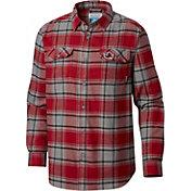 Columbia Men's South Carolina Gamecocks Garnet Plaid Flare Gun Flannel Long Sleeve Shirt
