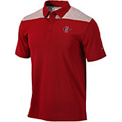 Columbia Men's San Diego State Aztecs Scarlet Utility Performance Polo