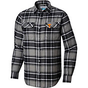 Columbia Men's Tennessee Volunteers Black Plaid Flare Gun Flannel Long Sleeve Shirt