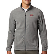 Columbia Men's Texas A&M Aggies Grey Flanker Full-Zip Fleece Jacket