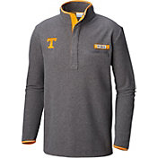 Columbia Men's Texas Longhorns Grey Harborside Fleece Pullover