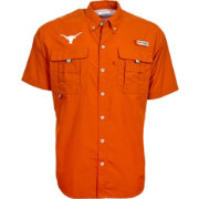 Columbia Men's Texas Longhorns Burnt Orange PFG Bahama Button Down Shirt