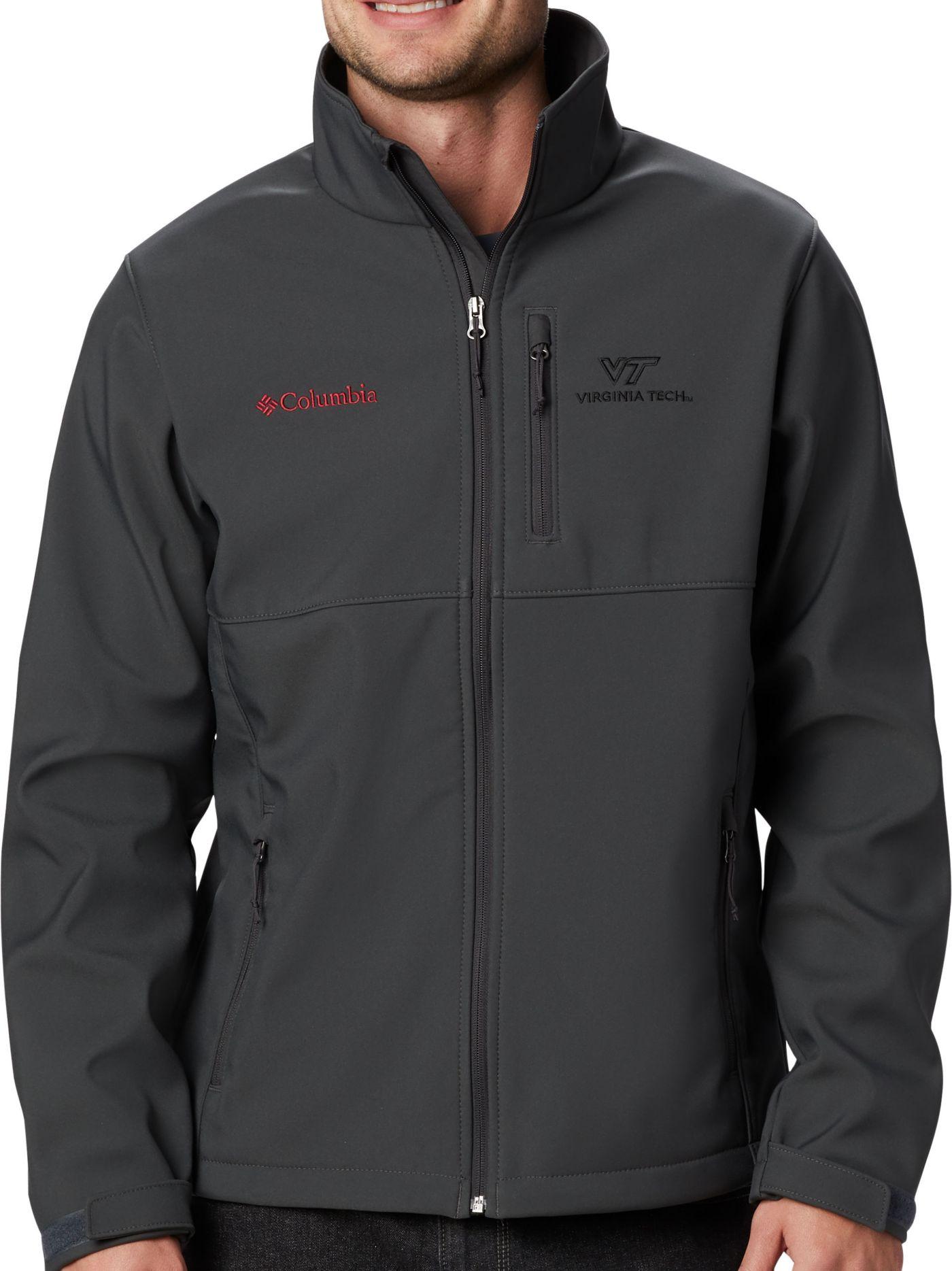 Columbia Men's Virginia Tech Hokies Grey Ascender Jacket