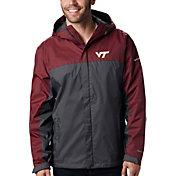 Columbia Men's Virginia Tech Hokies Maroon/Grey Glennaker Storm Jacket
