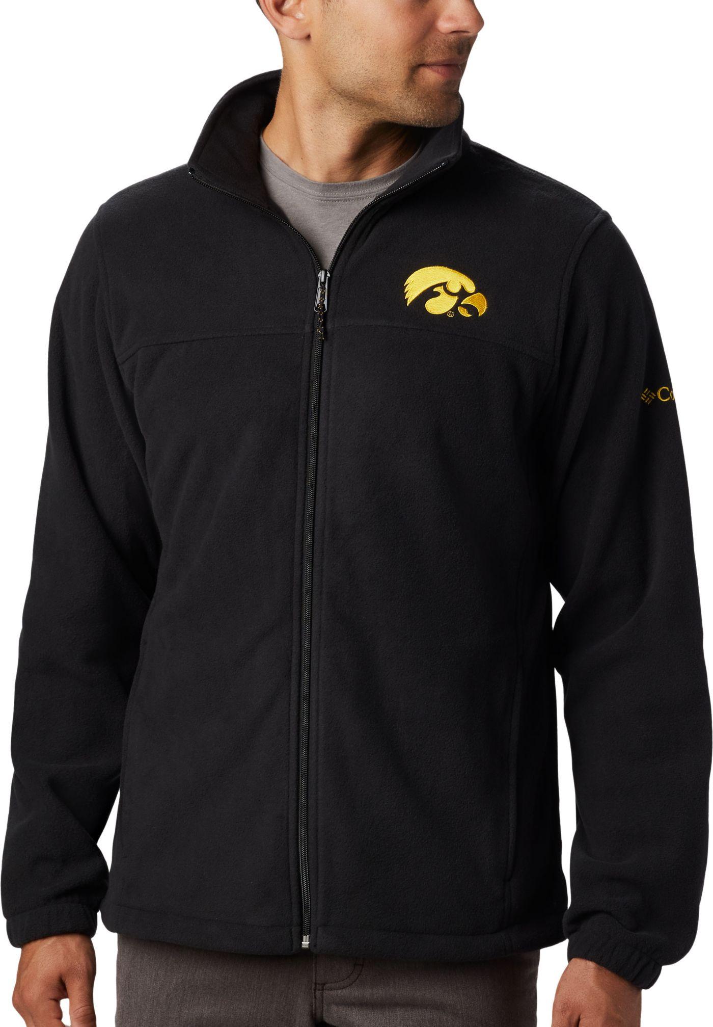Columbia Men's Iowa Hawkeyes Flanker Full-Zip Fleece Black Jacket