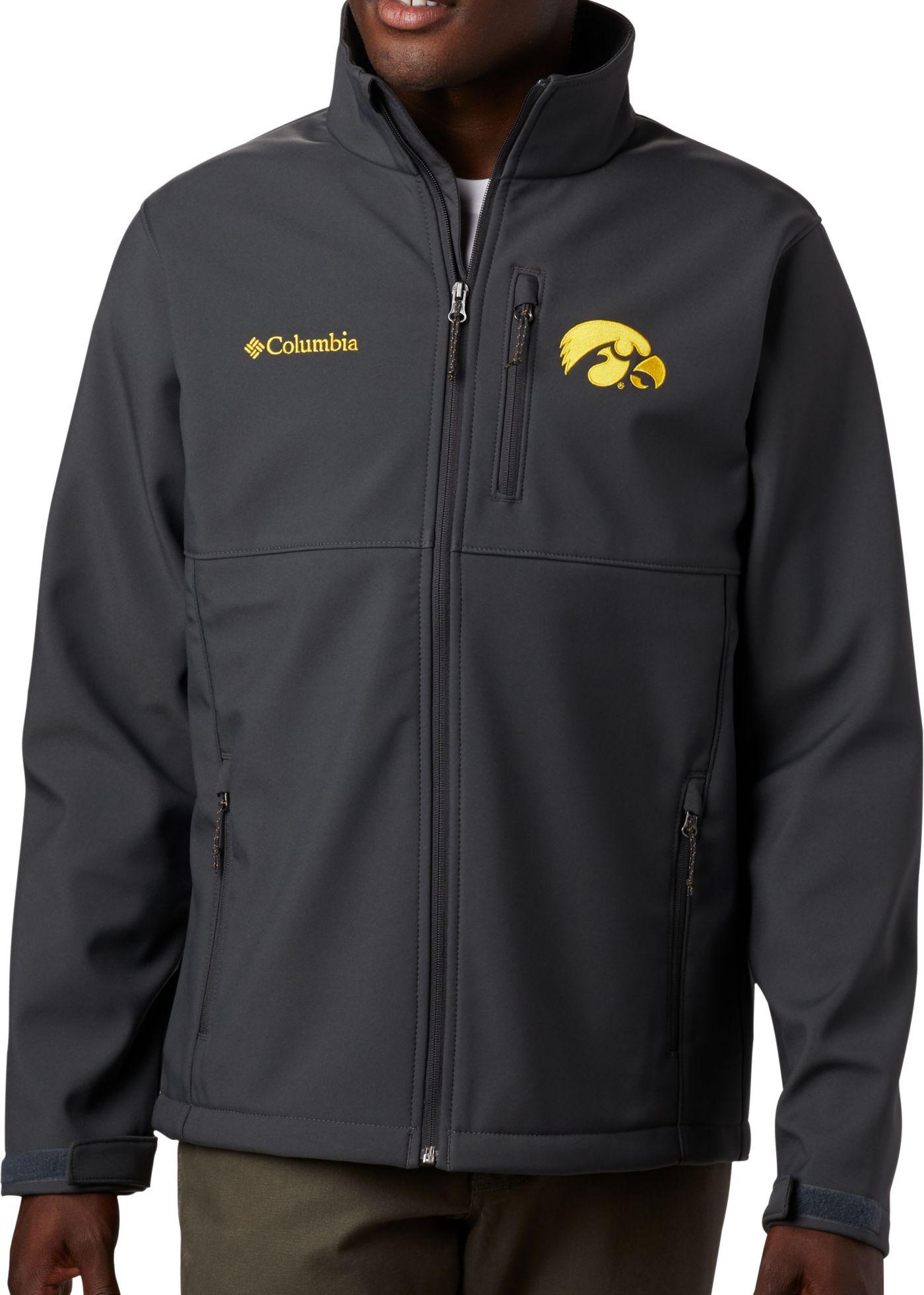 Columbia Men's Iowa Hawkeyes Grey Ascender Jacket