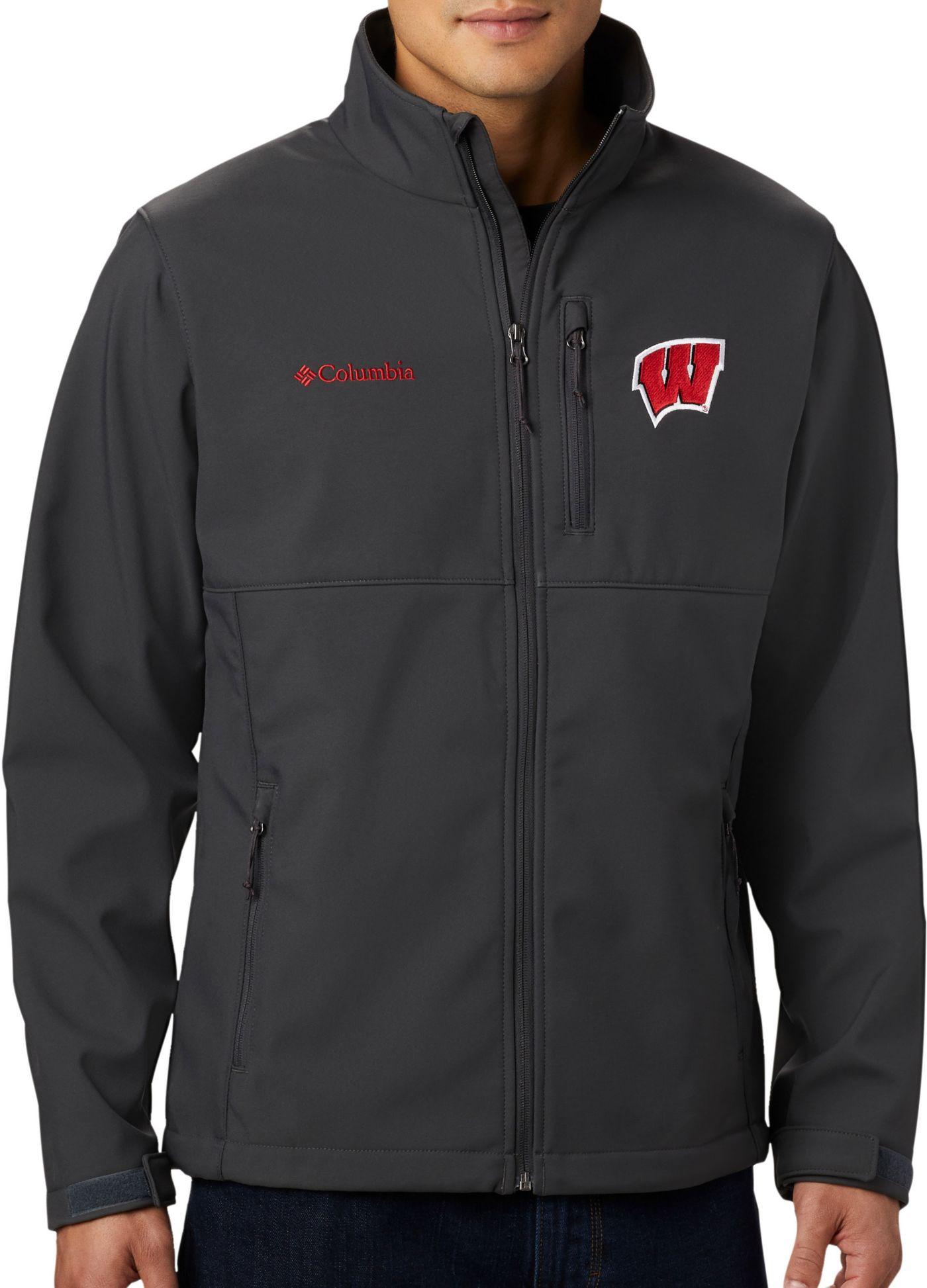 Columbia Men's Wisconsin Badgers Grey Ascender Jacket