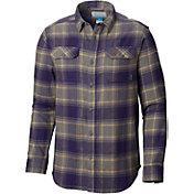 Columbia Men's Washington Huskies Purple Plaid Flare Gun Flannel Long Sleeve Shirt