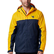 Columbia Men's West Virginia Mountaineers Gold/Blue Glennaker Storm Jacket