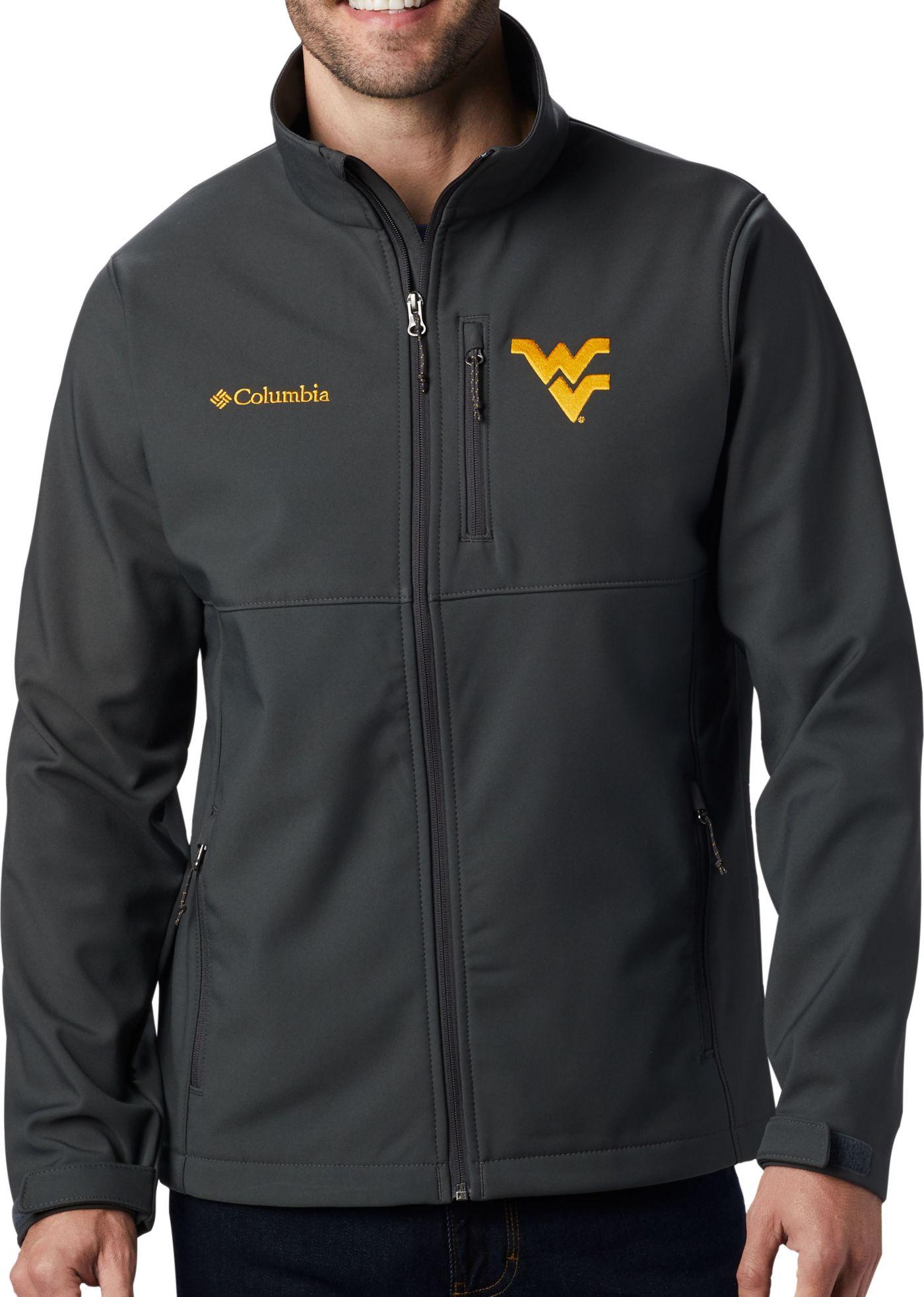 Columbia Men's West Virginia Mountaineers Grey Ascender Jacket