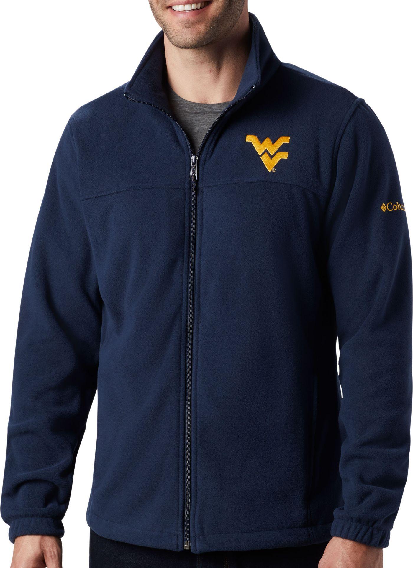 Columbia Men's West Virginia Mountaineers Blue Flanker Full-Zip Fleece Jacket