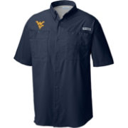 Columbia Men's West Virginia Mountaineers Blue Tamiami Performance Shirt