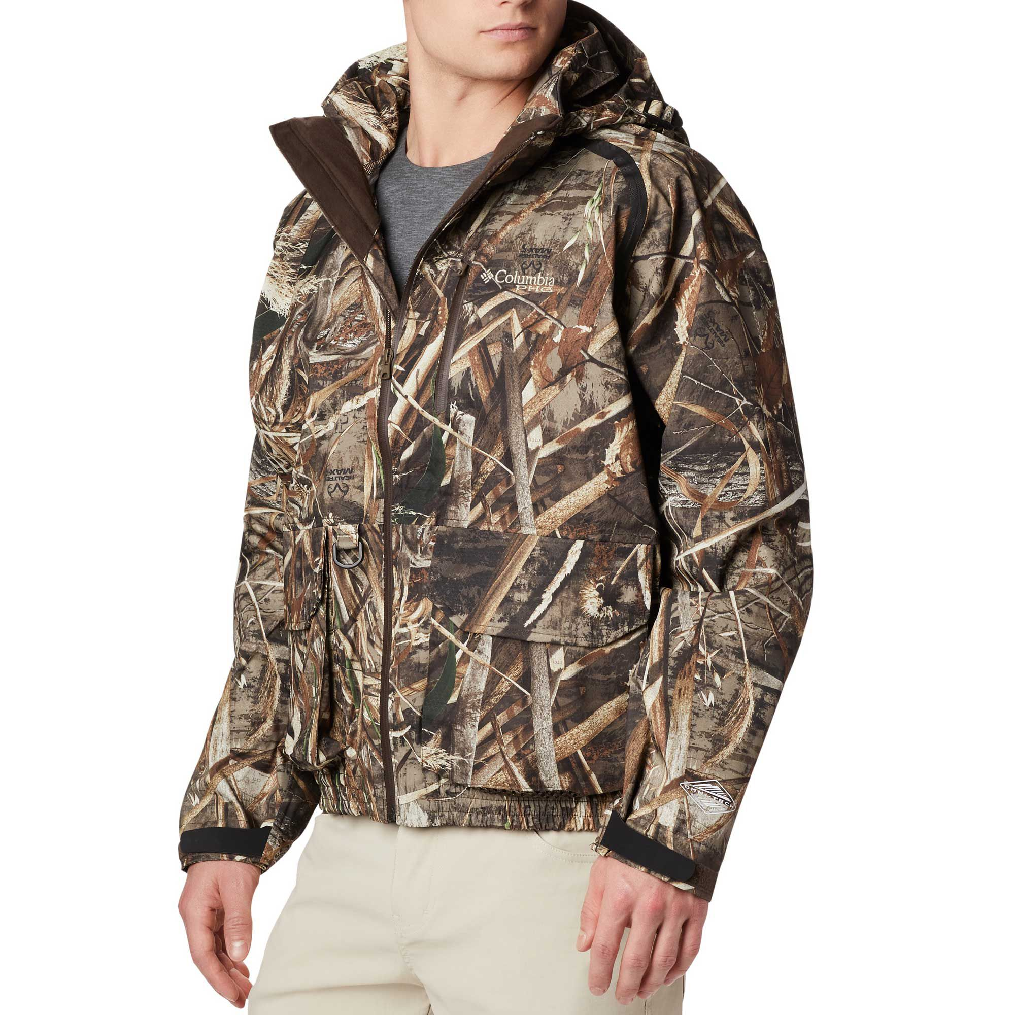 Columbia Men's Widgeon Wader Shell Hunting Jacket, Small, Brown