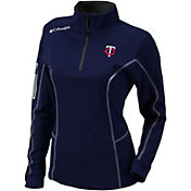 Columbia Women's Minnesota Twins Shotgun Quarter-Zip Performance Pullover