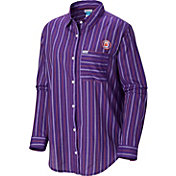 Columbia Women's Clemson Tigers Regalia Sun Drifter Long Sleeve Button Down Shirt