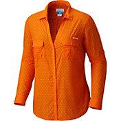 Columbia Women's Clemson Tigers Orange/White Sun Drifter Long Sleeve Shirt