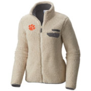Columbia Women's Clemson Tigers Mountainside Full-Zip White Jacket