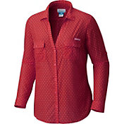 Columbia Women's Oklahoma Sooners Crimson/Cream Sun Drifter Long Sleeve Shirt