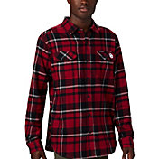 Columbia Men's Oklahoma Sooners Crimson Plaid Flare Gun Flannel Long Sleeve Shirt