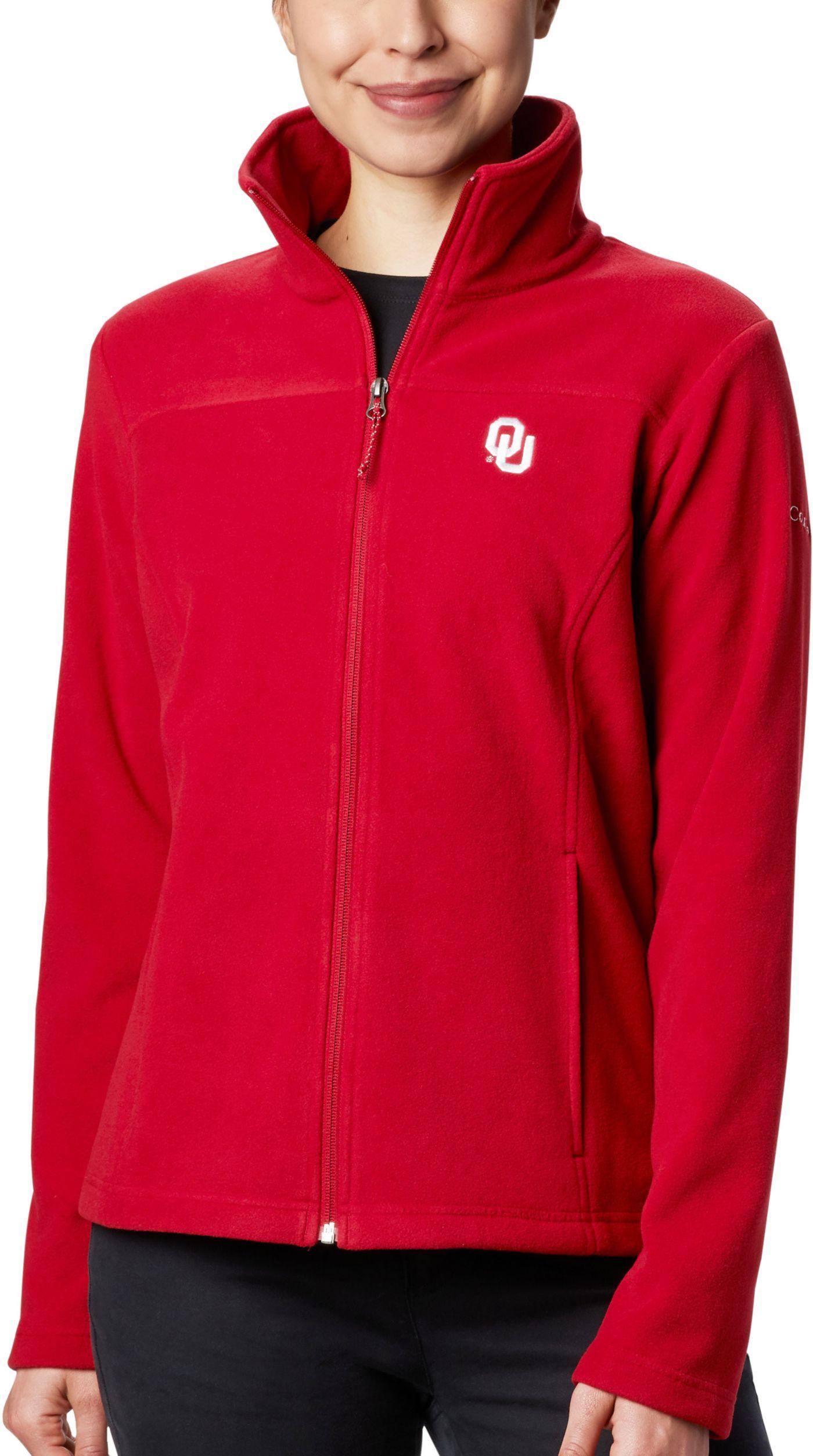 Columbia Women's Oklahoma Sooners Crimson Give & Go Full-Zip Jacket