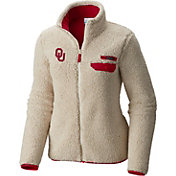 Columbia Women's Oklahoma Sooners Mountainside Full-Zip Cream Jacket