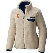 Columbia Women's Illinois Fighting Illini Mountainside Full-Zip White Jacket