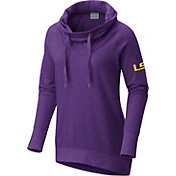 Columbia Women's LSU Tigers Purple Downtime Funnel Neck Pullover