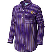Columbia Women's LSU Tigers Purple Sun Drifter Long Sleeve Button Down Shirt