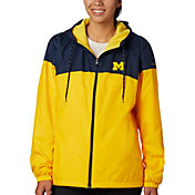Columbia Women's Michigan Wolverines Blue/Maize CLG Flash Forward Lined Jacket