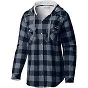 Columbia Women's Michigan Wolverines Blue/Grey Times Two Long Sleeve Shirt