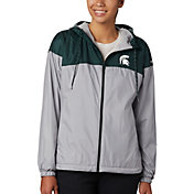 Columbia Women's Michigan State Spartans Green/Grey CLG Flash Forward Lined Jacket
