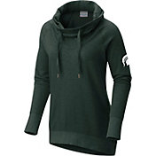 Columbia Women's Michigan State Spartans Green Downtime Funnel Neck Pullover