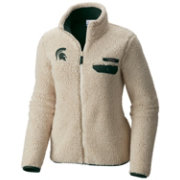 Columbia Women's Michigan State Spartans Mountainside Full-Zip White Jacket