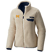 Columbia Women's Michigan Wolverines Mountainside Full-Zip White Jacket
