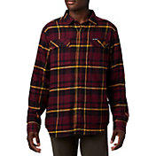 Columbia Men's Minnesota Golden Gophers Maroon Plaid Flare Gun Flannel Long Sleeve Shirt