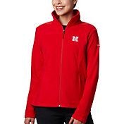 Columbia Women's Nebraska Cornhuskers Scarlet Give & Go Full-Zip Jacket